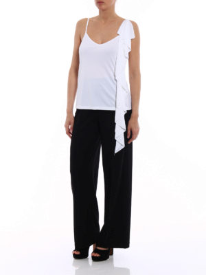 Dondup: Tops & Tank tops online - White flounced top