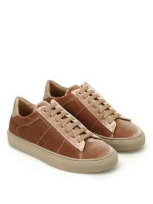 Dondup: trainers online - Romantic velvet sneakers