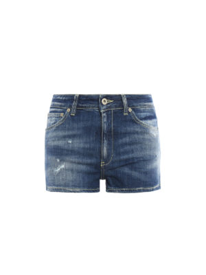 Dondup: Trousers Shorts - Chesney denim short pants