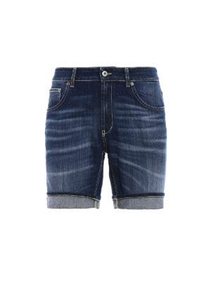 Dondup: Trousers Shorts - Derick denim short pants
