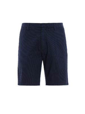 Dondup: Trousers Shorts - Manheim polka dot cotton shorts