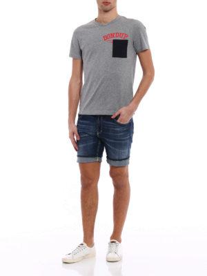 Dondup: Trousers Shorts online - Derick denim short pants