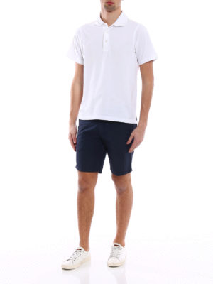 Dondup: Trousers Shorts online - Manheim polka dot cotton shorts