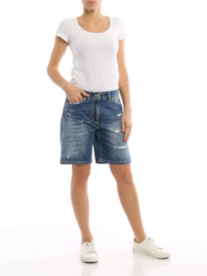 Dondup: Trousers Shorts online - Newholly faded denim shorts