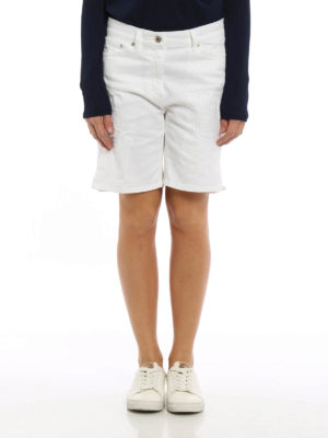 Dondup: Trousers Shorts online - Newholly worn out denim short pants