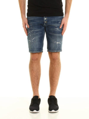 Dondup: Trousers Shorts online - Rolly spotted denim shorts