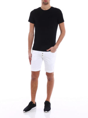 Dondup: Trousers Shorts online - Rolly white shorts