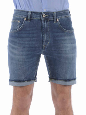 Dondup: Trousers Shorts online - Stretch denim short pants