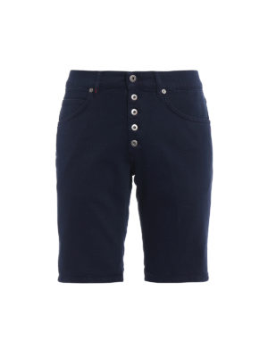 Dondup: Trousers Shorts - Rolly dark blue denim shorts