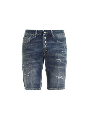 Dondup: Trousers Shorts - Rolly spotted denim shorts