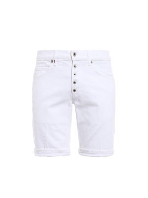 Dondup: Trousers Shorts - Rolly white shorts