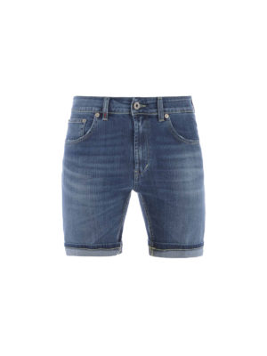 Dondup: Trousers Shorts - Stretch denim short pants