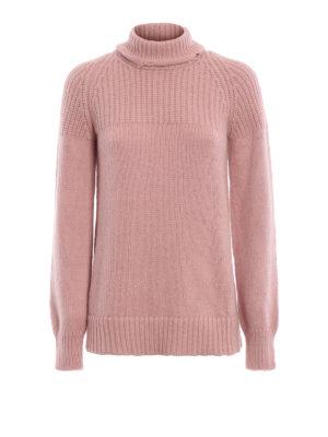 DONDUP: maglia a collo alto e polo - Dolcevita rosa antico in misto alpaca