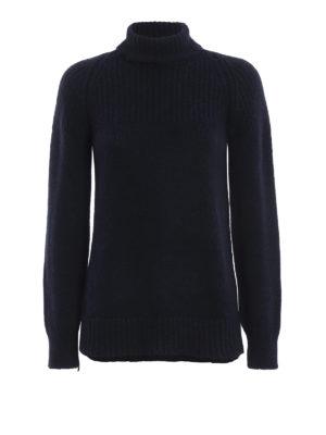 DONDUP: maglia a collo alto e polo - Dolcevita blu scuro in misto alpaca