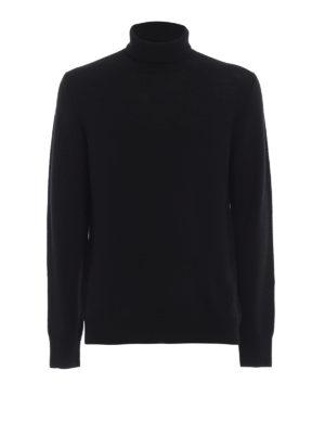 DONDUP: maglia a collo alto e polo - Dolcevita nera in morbida lana merino