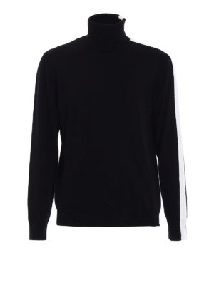 Dondup: Turtlenecks & Polo necks - Contrasting stripes wool turtleneck