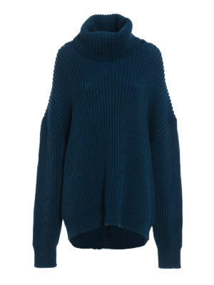 Dondup: Turtlenecks & Polo necks - Iconic oversize wool turtleneck