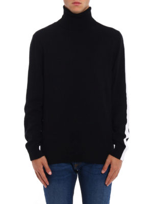 Dondup: Turtlenecks & Polo necks online - Contrasting stripes wool turtleneck