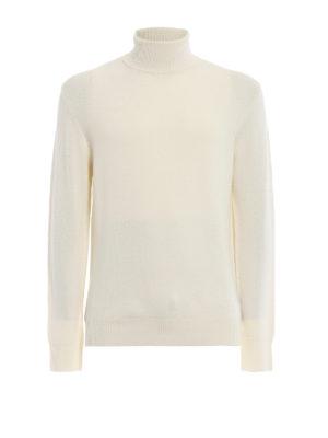 DONDUP: maglia a collo alto e polo - Dolcevita bianca in morbida lana merino