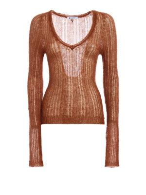Dondup: v necks - Mohair blend V neck sweater