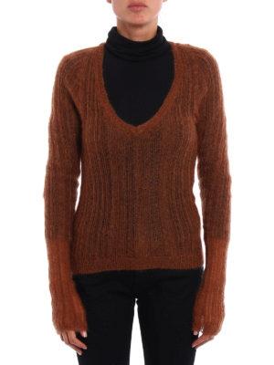 Dondup: v necks online - Mohair blend V neck sweater