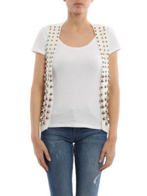 Dondup: waistcoats & gilets online - Maxi studs linen waistcoat
