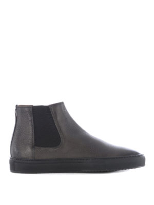 Doucal's: ankle boots - Grained leather pull-on ankle boots
