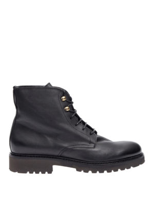 Doucal's: ankle boots - Leather laced-up ankle boots