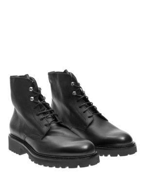 Doucal's: ankle boots online - Leather laced-up ankle boots