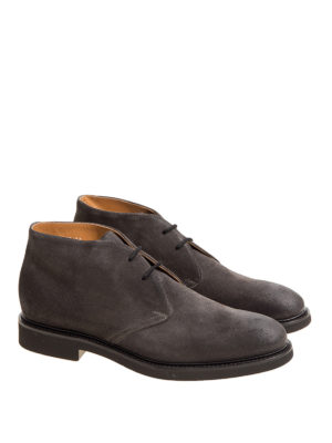 Doucal's: ankle boots online - Suede laced-up desert boots