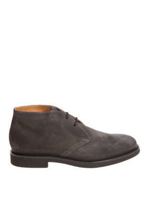 Doucal's: ankle boots - Suede laced-up desert boots