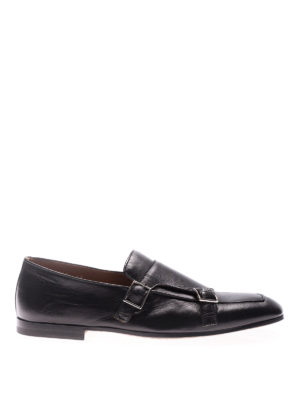 Doucal's: classic shoes - Black Kid leather monkstraps