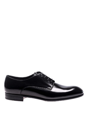 Doucal's: classic shoes - Black polished leather Derby shoes