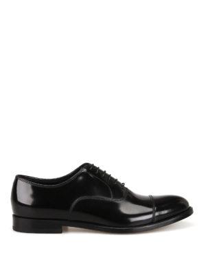Doucal s  classiche - Oxford stringate in pelle lucida nera 82b33b5706e