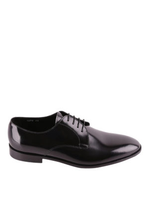Doucal's: classic shoes - Black tapered toe Derby shoes
