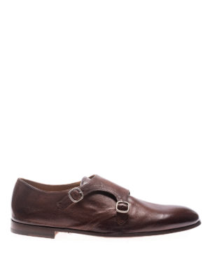 Doucal's: classic shoes - Chetta monkstrap leather shoes