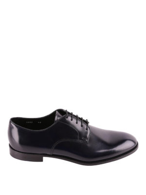 Doucal's: classic shoes - Dark blue brushed leather Derby