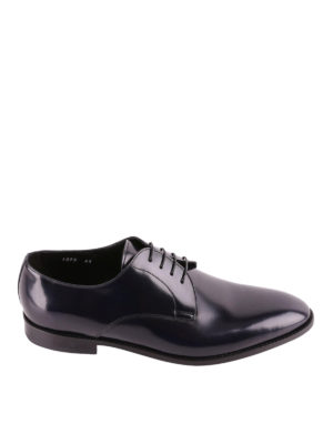 Doucal's: classic shoes - Dark blue tapered toe Derby shoes