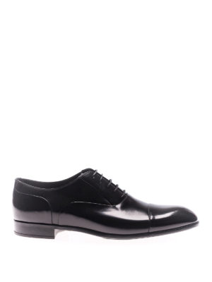 Doucal's: classic shoes - Old black leather Oxford shoes