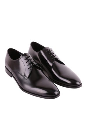 Doucal's: classic shoes online - Black tapered toe Derby shoes