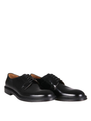 Doucal's: classic shoes online - Brushed leather lace-ups