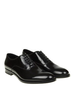 Doucal's: classic shoes online - Brushed leather Oxford shoes