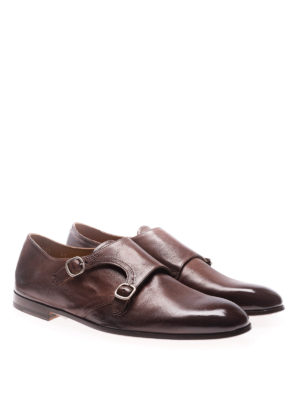 Doucal's: classic shoes online - Chetta monkstrap leather shoes