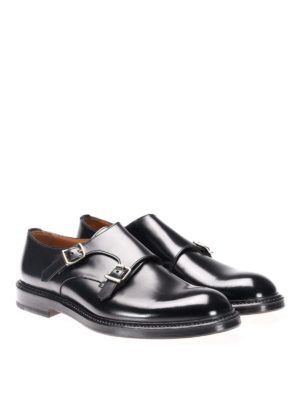 Doucal's: classic shoes online - Leather classic monk straps