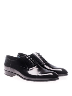 Doucal's: classic shoes online - Old black leather Oxford shoes