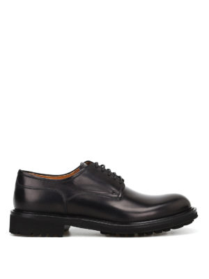 Doucal's: lace-ups shoes - Brushed leather lace-up shoes