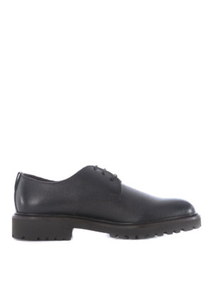 Doucal's: lace-ups shoes - Grainy leather lug sole derby shoes