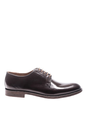 Doucal's: lace-ups shoes - Leather laced-up Derby shoes