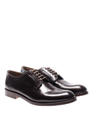 Doucal's: lace-ups shoes online - Leather laced-up Derby shoes