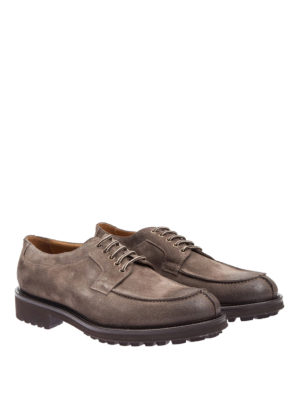 Doucal's: lace-ups shoes online - Shaded suede lace-ups
